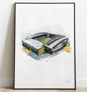 Wigan Athletic FC - DW Stadium art print