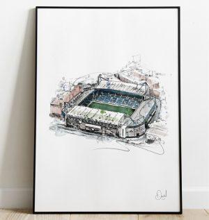 Chelsea FC - Stamford Bridge art print