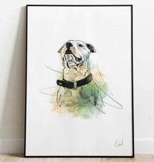 Terrier dog - Terrierific art print