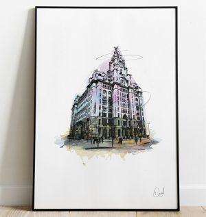 Liverpool - Liverbuilding art print