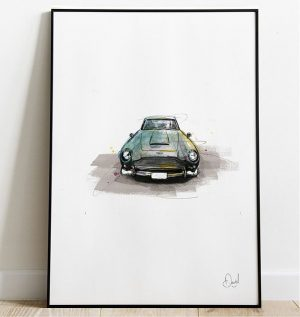 Aston Martin DB5 - James Bond  Shaken and stirred art print