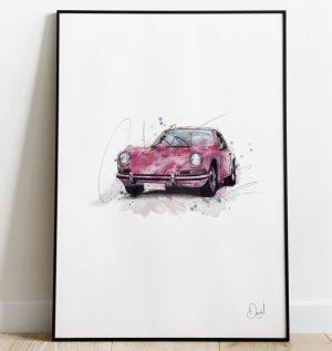 Porsche 911 Carrera  - Guards Red art print
