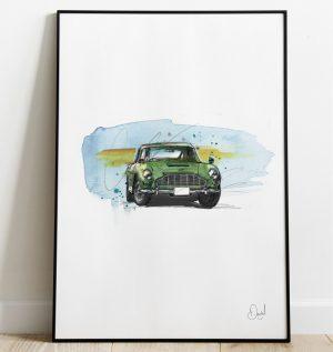 Aston Martin DB5 - Verde art print
