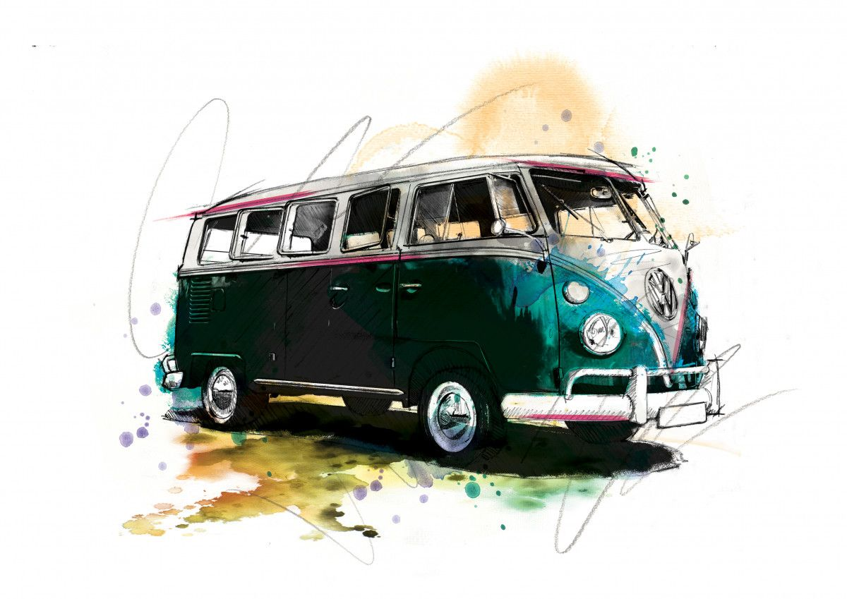 0060 Dm Vw Camped Out Art