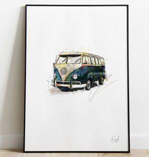 Volkswagen Campervan Type 2 - Bussing it art print