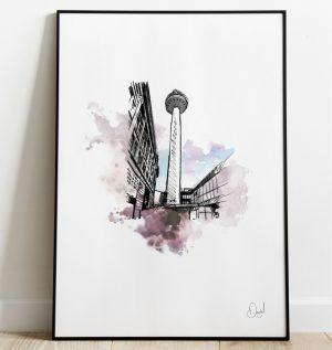 Radio City - Liverpool art print