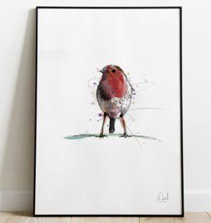 Rockin Robin - Robin Redbreast Christmas art print