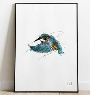 All hail the King - Kingfisher art print