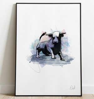 Birmingham Bullring - It's all bull art print