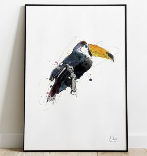 Toucan play that game - Toucan art print