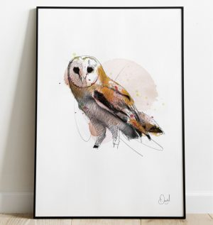 The wise old owl - Owl art print