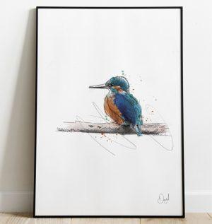 The Fisher King - Kingfisher art print