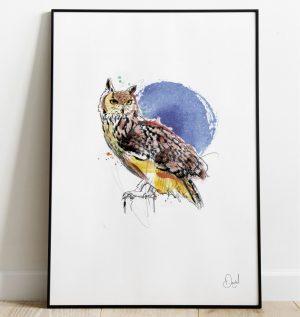 The night owl - art print