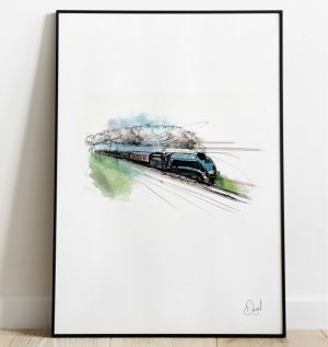 LNER A4 4468 Mallard Streak - Steam Train art print