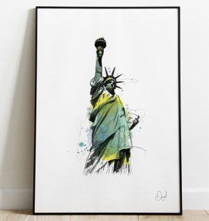 New York - Statue of Liberty art print