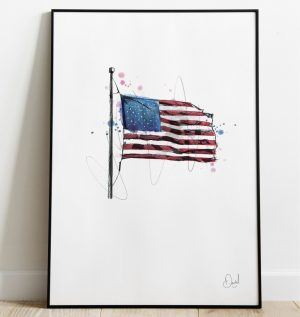 USA flag - Stars and stripes art print