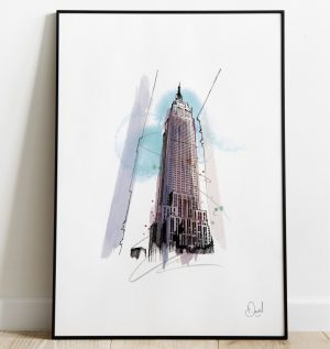 New York - Empire state building - Empire state of mind art print