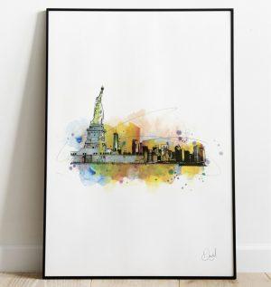 New York - Made in Manhatten art print