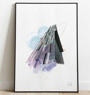 Manchester - Beetham Tower art print