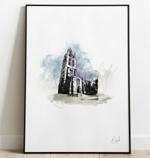 Newcastle - St Nicholas Cathedral art print