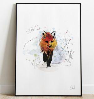 The stone cold fox - Fox art print