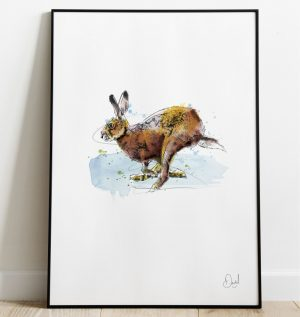 Hare today gone tomorrow - Hare art print