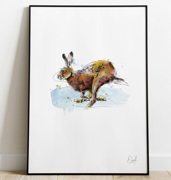 David Marston Art - Hare Today Gone Tomorrow