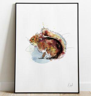 Secret Squirrel - Squirrel art print