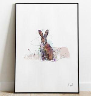 Good Hare Day - Hare art print