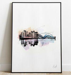 Newcastle Gateshead - Quayside art print