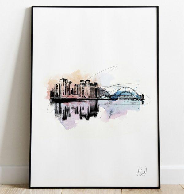 David Marston Art - Newcastle Gateshead - Quayside