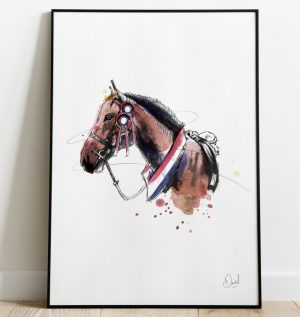 Winston the Horse - Horse art print