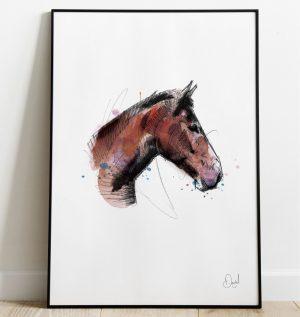 Winston you lose some - Horse art print