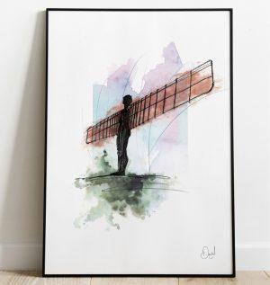 Newcastle Gateshead - Angel of the North art print