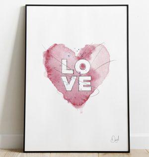 Love - Typographic art print