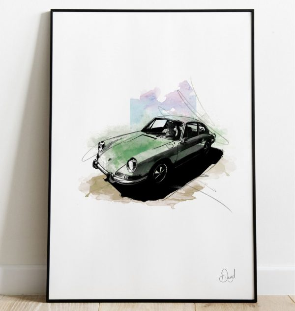 David Marston Art - Porsche 911 Irish Green