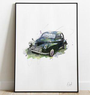 Morris Minor - Just a minor incident art print