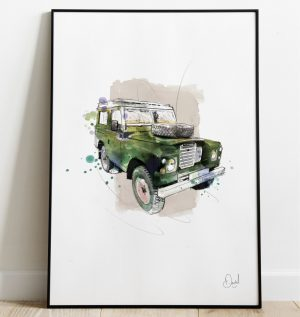 Land Rover Defender - The last defence - Green art print