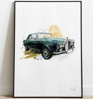 Rolls Royce Continental - Continental Drifter art print