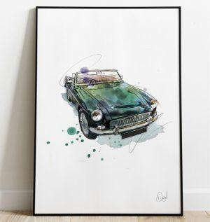 Classic MG -MGC - MGC you later art print