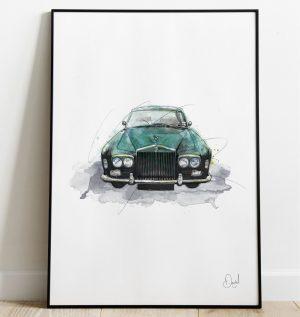 Rolls Royce Continental - Keep on rollin art print