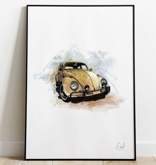 David Marston Art - VW Beetle - Bugga