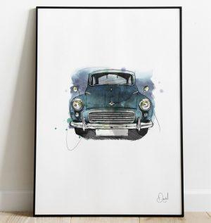 Morris Minor - Nothing finer than a Morris Minor art print