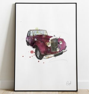 Bentley R Type - Revert to R Type art print