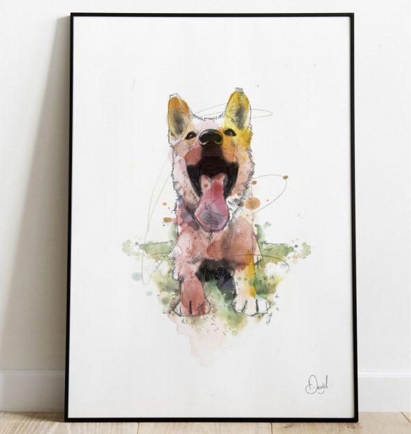 David Marston Art - Little Dog Big Mouth