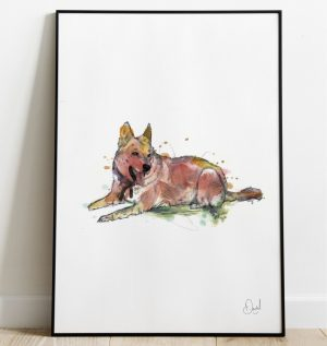 I'm a little husky today - Dog art print