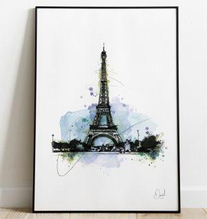 Eiffel Tower Paris - What an Eiffel art print