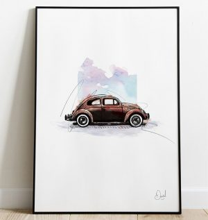 Volkswagen Beetle Type 1- Bugged Out art print
