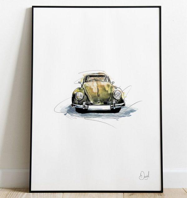 David Marston Art - VW Beetle - What'S Bugging You