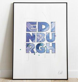 Edinburgh - Such a beautiful word art print